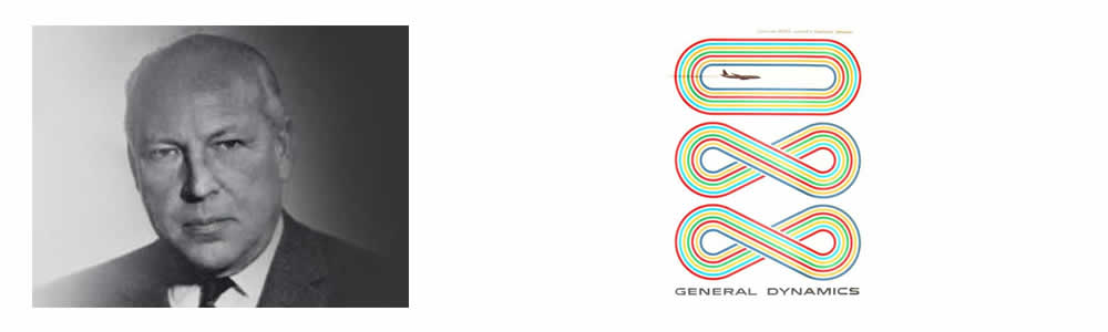 Erik Nitsche - General Dynamics Logos - Famous Logo Designers and Their Distinctive Style