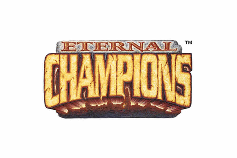 Eternal Champions logo design - Inspirational Arcade Game Logos of the 90's