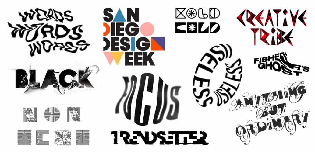 Experimental Typefaces - Typography Trends 2021 - The Logo Creative