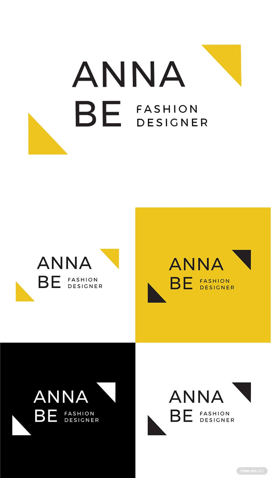 Fashion Designer Logo Template