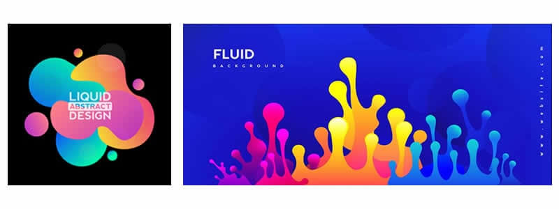 Fluid shapes - 2020 Graphic Design Trends-min