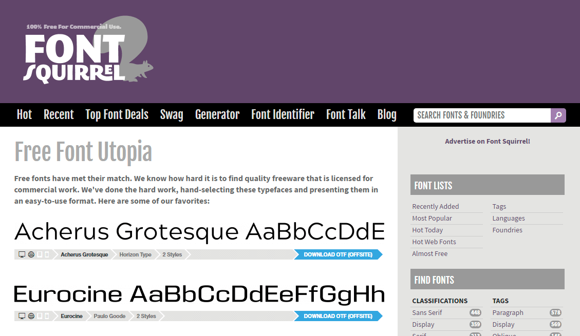 Font Squirrel - Free Fonts