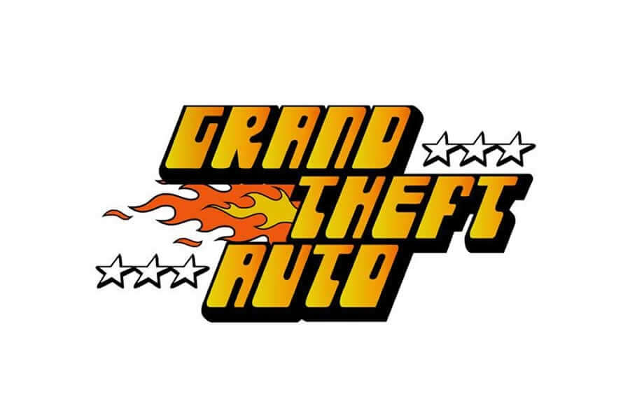 Grand Theft Auto logo design - Inspirational Arcade Game Logos of the 90's-min