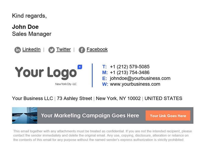 How to Make Your Logo Sell Your Brand - Logo Email Signature