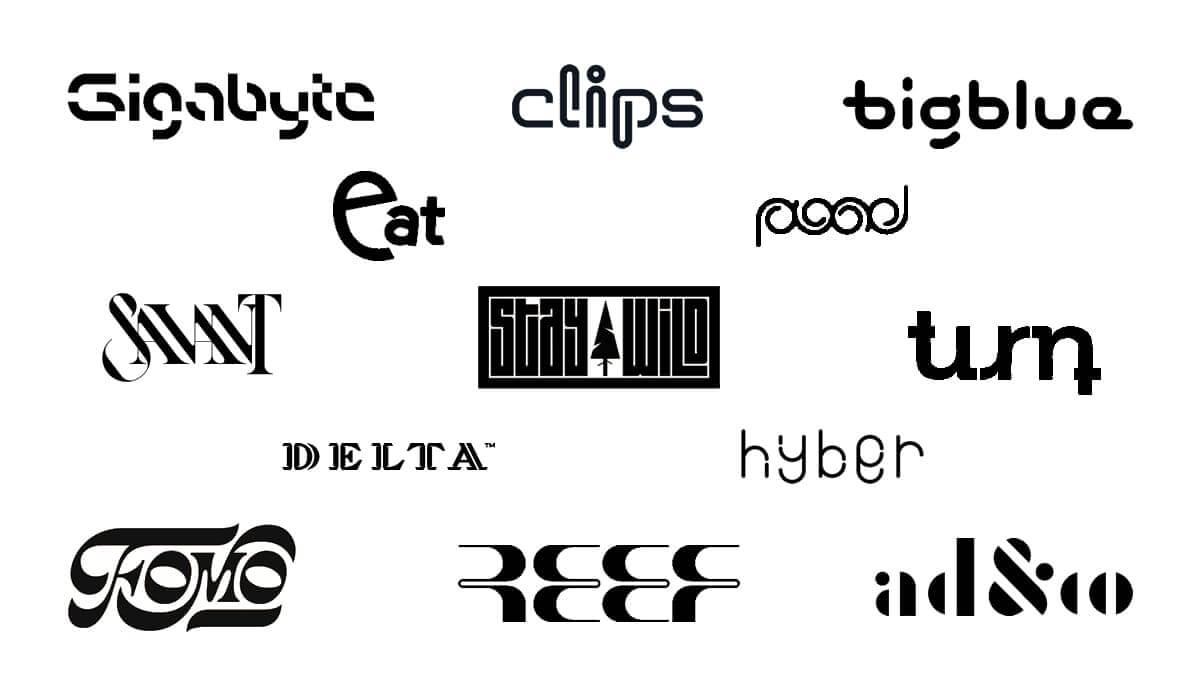 Inventive Typography Logo Design 2021