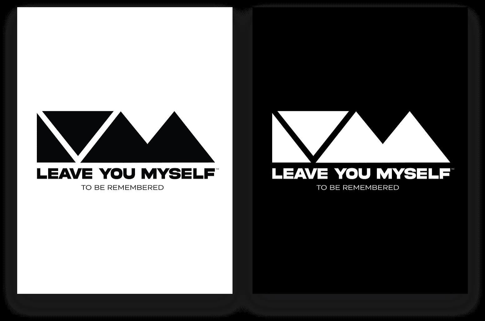 Leave You Myself - Black & White Logo Design