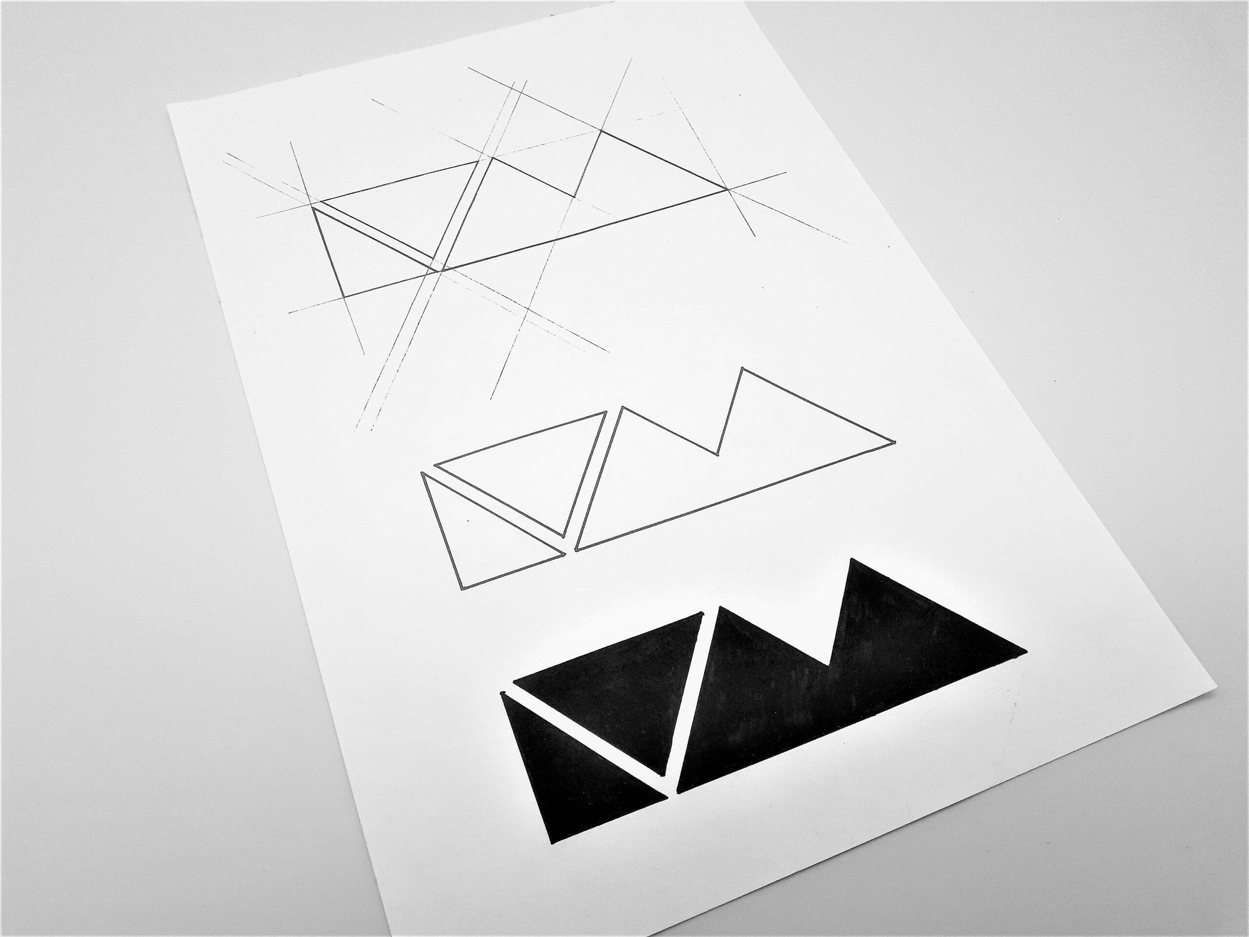 Leave You Myself Sketched Logo Grid & Inking