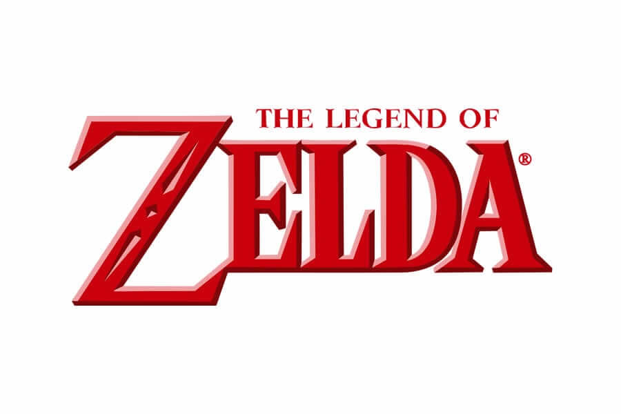 Legends of Zelda logo design - Inspirational Arcade Game Logos of the 90's-min
