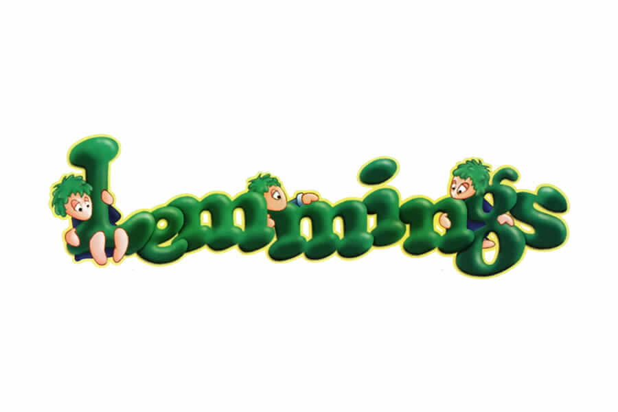 Lemmings logo design - Inspirational Arcade Game Logos of the 90's