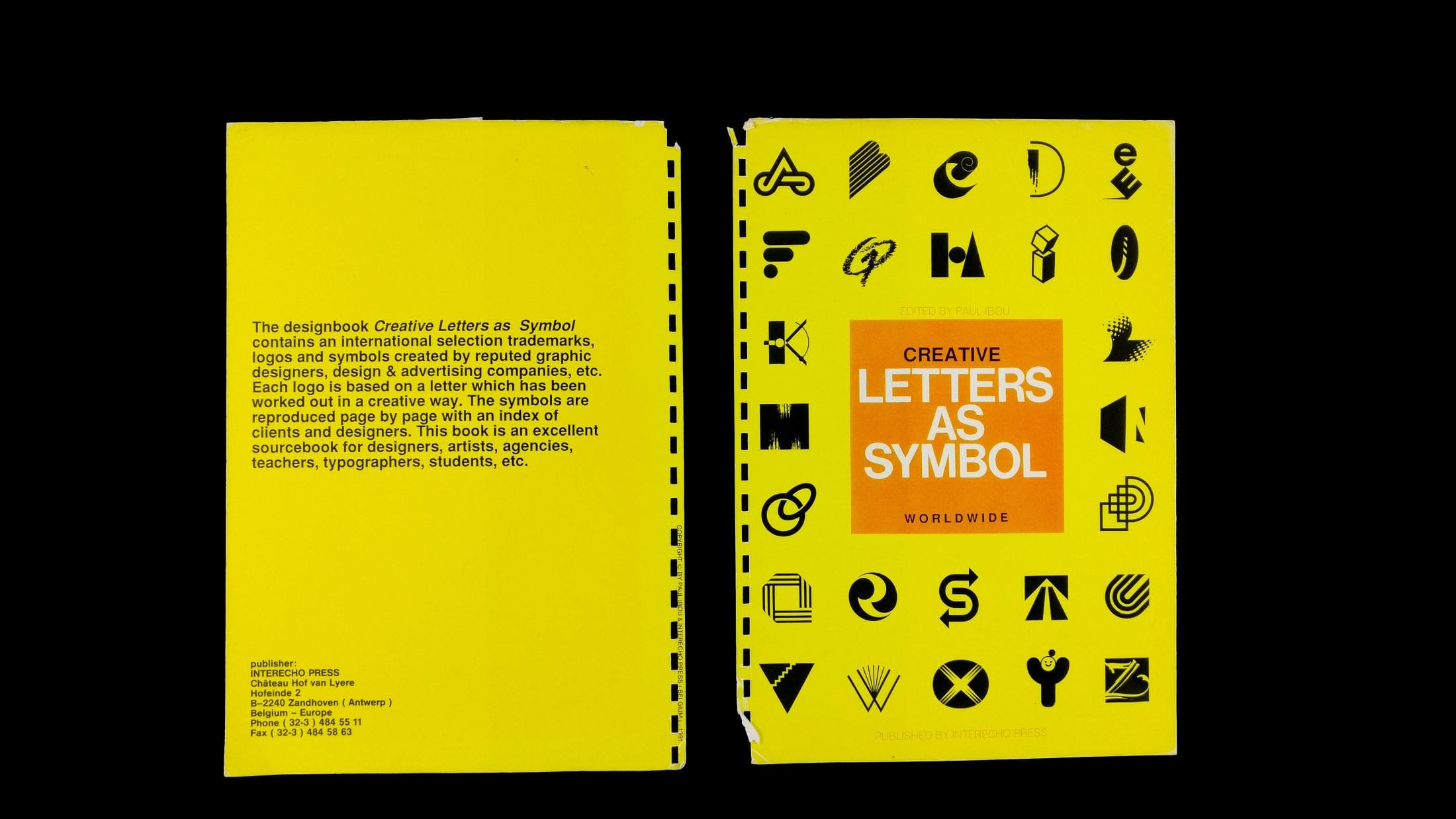 Letters As Symbols - Original 1991 Cover Design By Paul Ibou-min