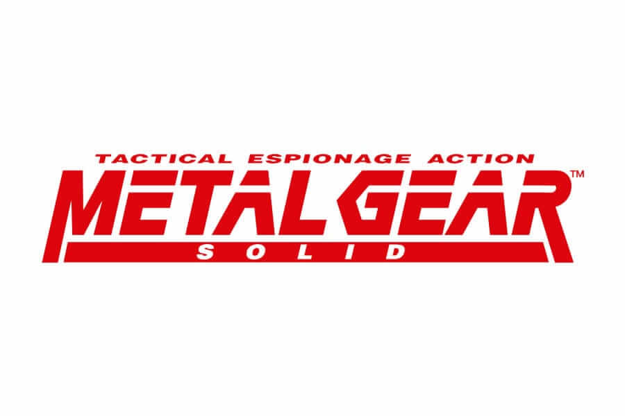 Metal Gear Solid logo design - Inspirational Arcade Game Logos of the 90's-min