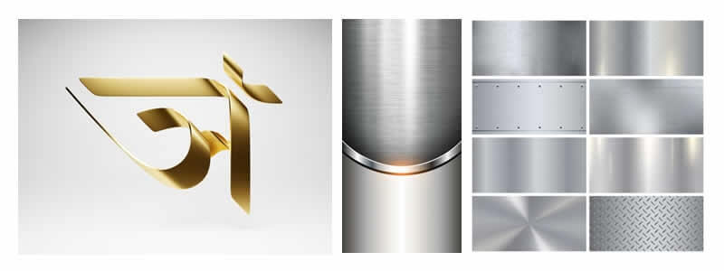 Metallic Illustration - 2020 Graphic Design Trends-min
