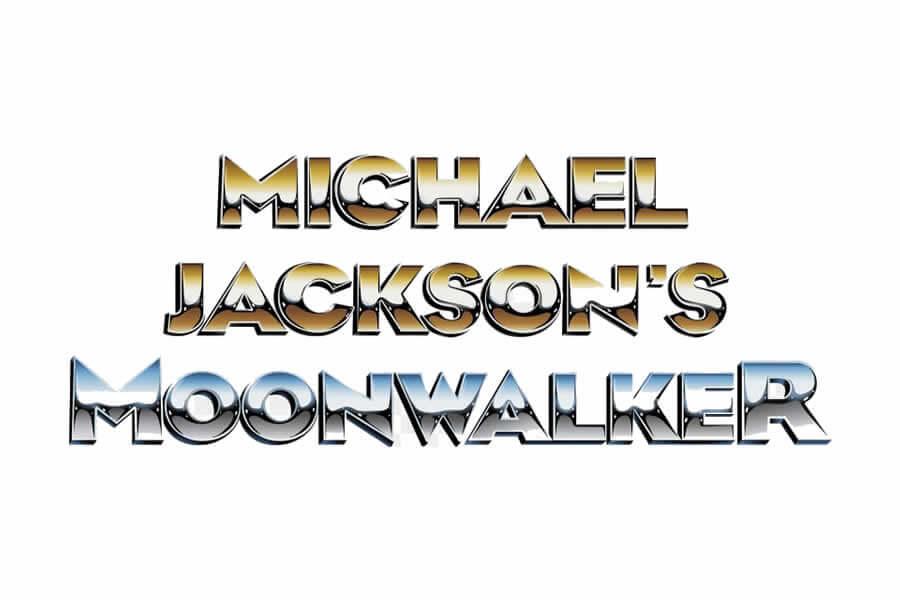 Michael Jackson - Moonwalker logo design - Inspirational Arcade Game Logos of the 90's
