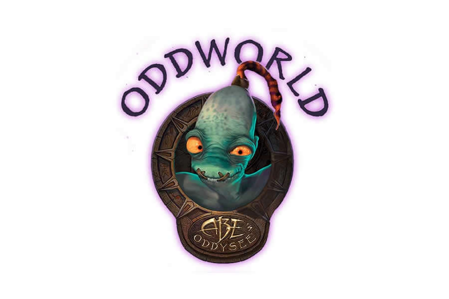 Oddworld - Abe's Oddysee logo design - Inspirational Arcade Game Logos of the 90's-min