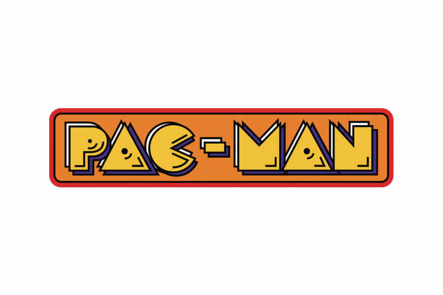 Pac-Man logo design - Inspirational Arcade Game Logos of the 90's