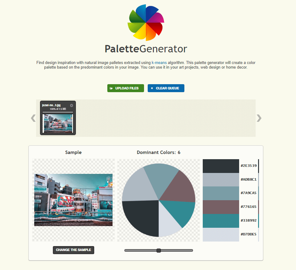 Palette Generator - Create a colour palette from an image-min
