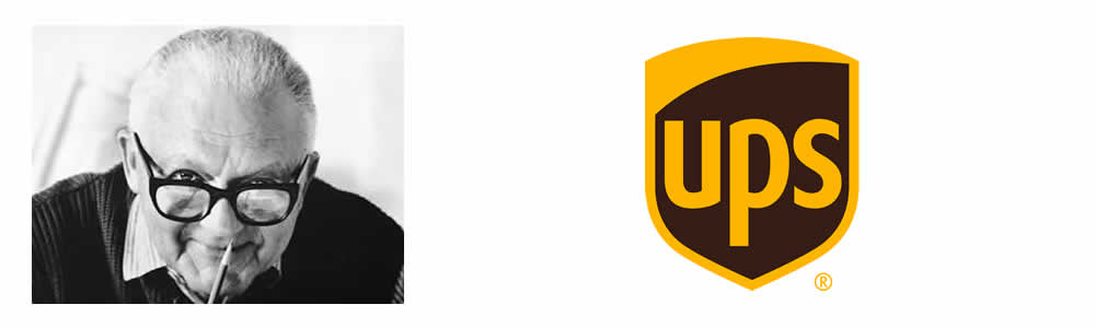 Paul Rnd - UPS Logo - Famous Logo Designers and Their Distinctive Style