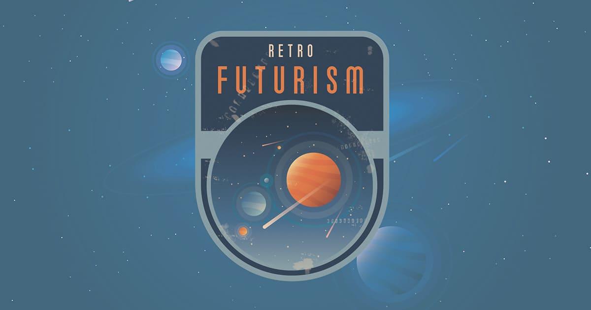 Retro futurism - Graphic Dsign Trends 2021