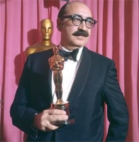 Saul Bass with Oscar for his why man creates film.