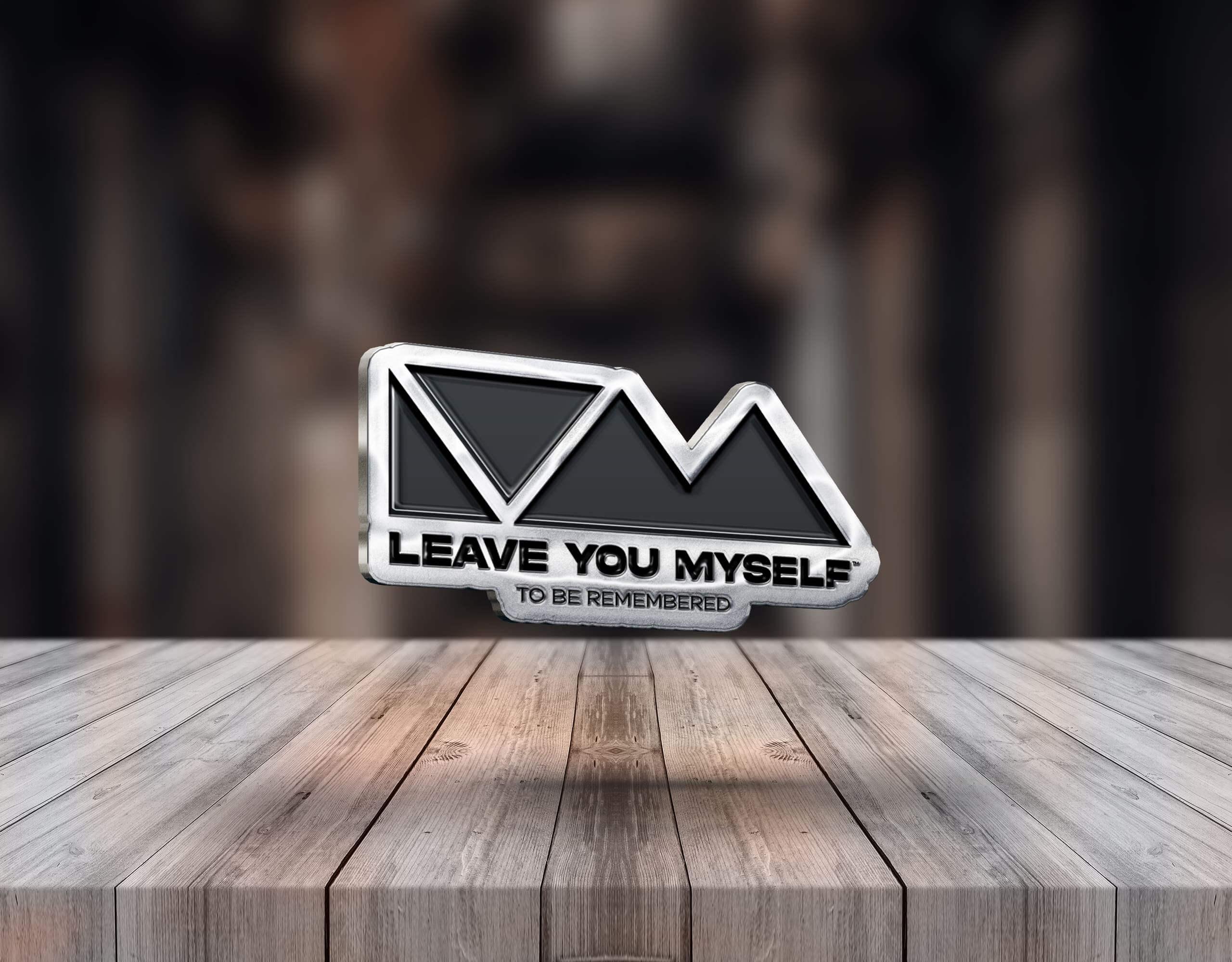 Silver Pin Badge - Leave You Myself