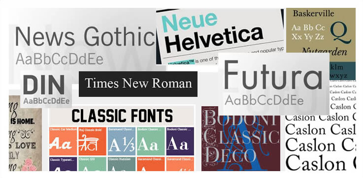 Simple and Classic Fonts