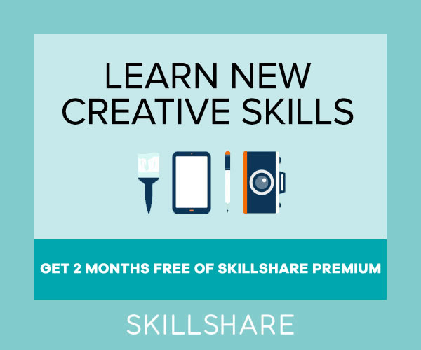 SkillShare - Online Learning, Learn new creative design skills.