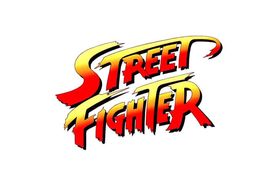Street Fighter logo design - Inspirational Arcade Game Logos of the 90's-min