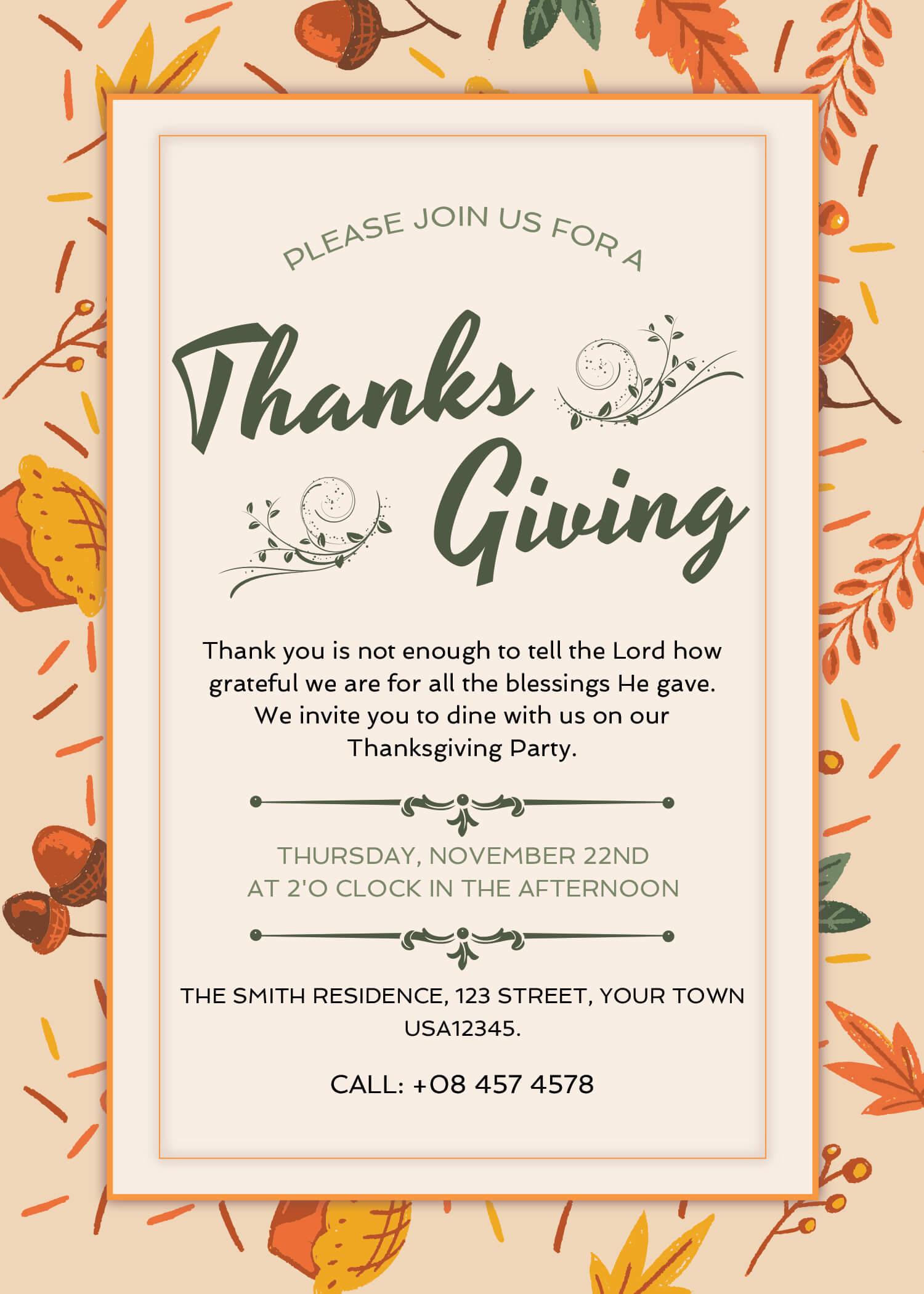 free thanksgiving invitation designs free designs