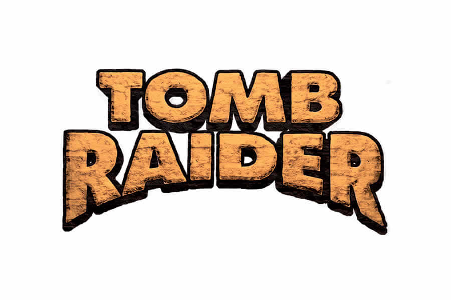Tomb Raider logo design - Inspirational Arcade Game Logos of the 90's-min