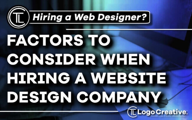 Top 5 Factors To Consider When Hiring a Website Design Company