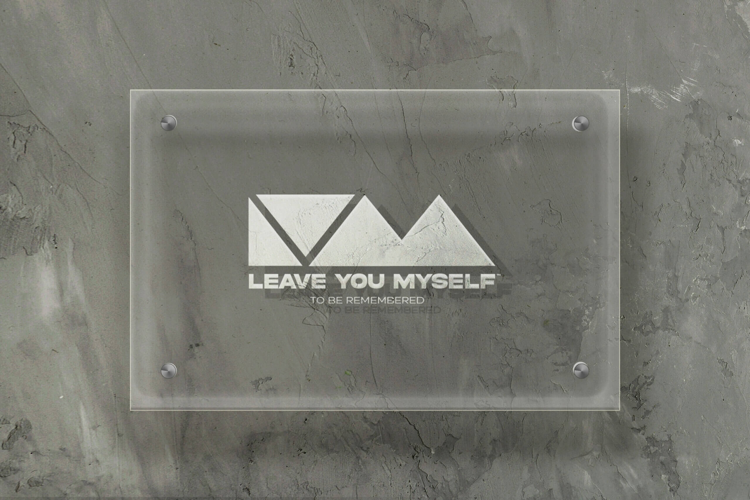 Transparent Glass Sign - Leave You Myself