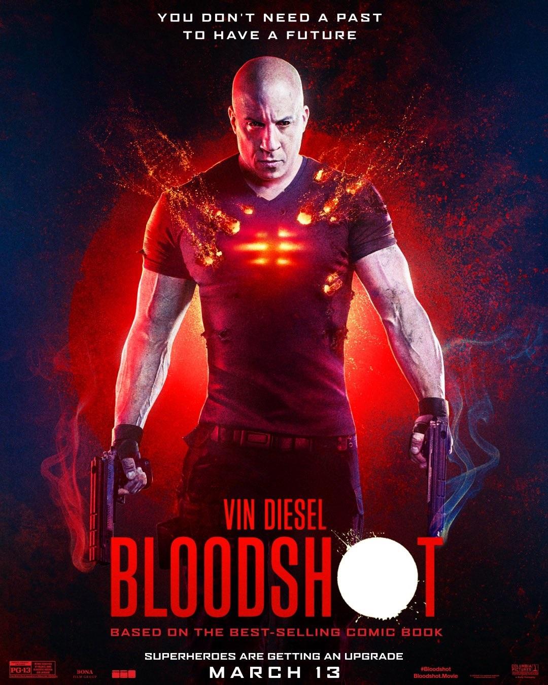 Vin Diesel Bloodshot Film Logo by Rian Hughes