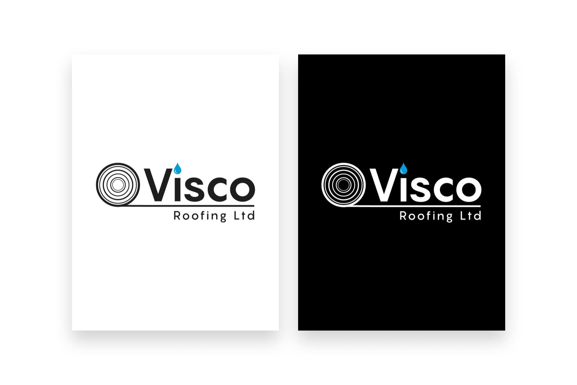 Visco Logo Design - Black & With Versions