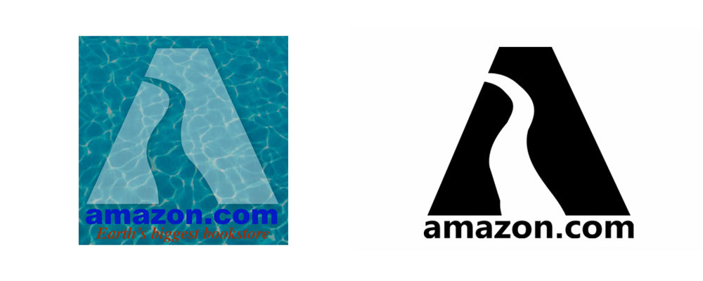amazon_logo_history_Evolution_River_logo_design_1995_Amazon Logo Design 1995 - Amazon River