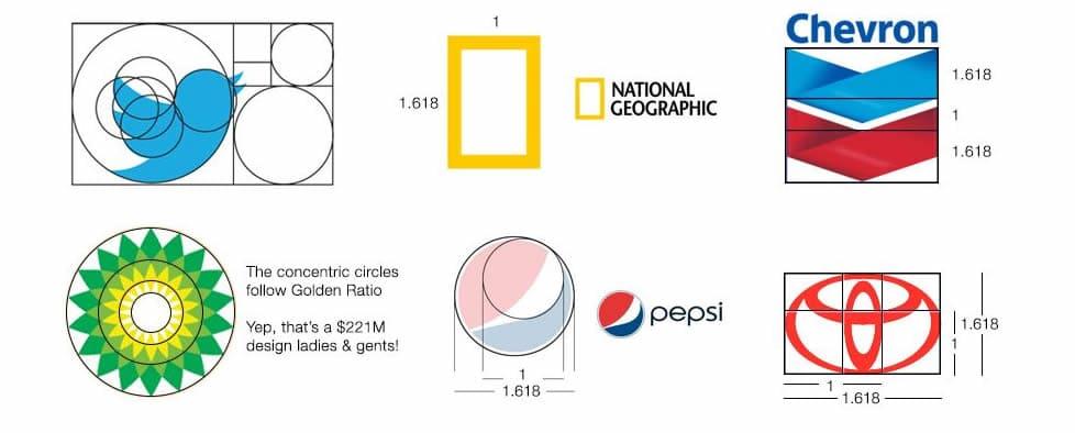 applying the golden ratio into logo design