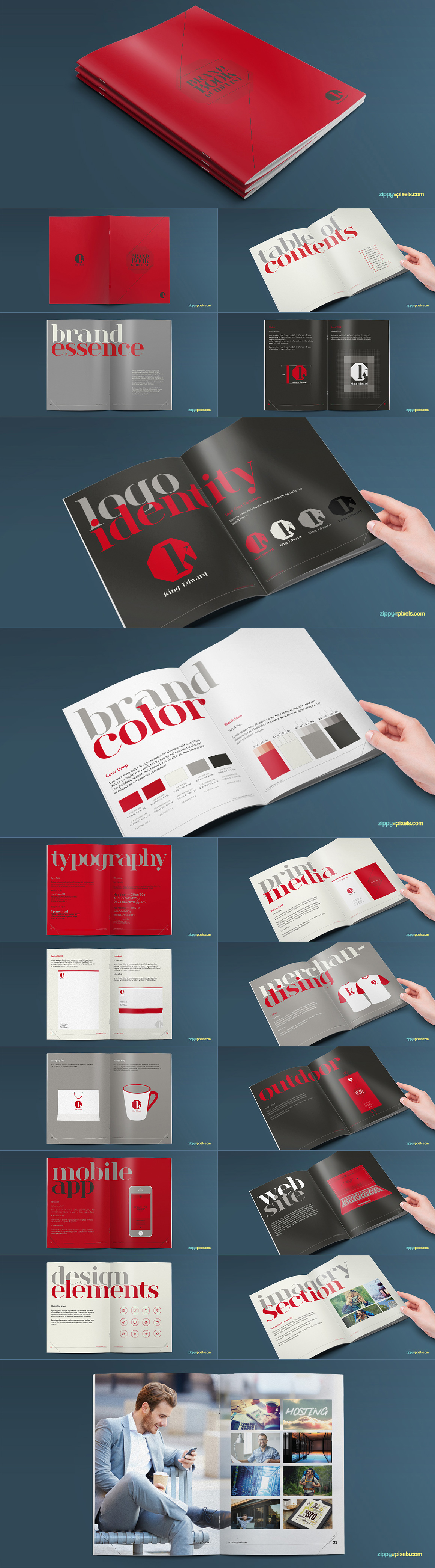 Style Guide & Brand Book Templates-strip10