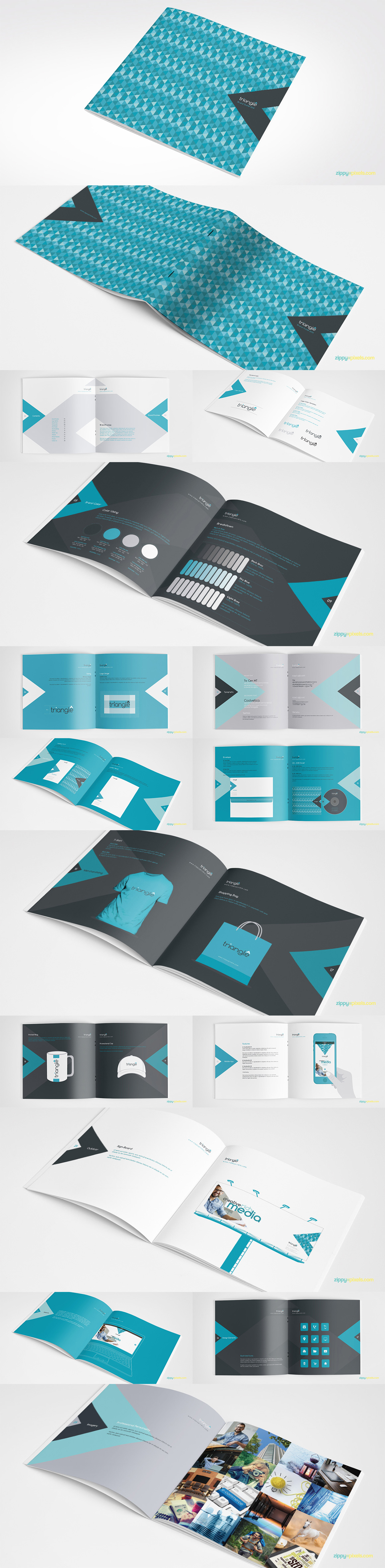 Style Guide & Brand Book Templates-strip11