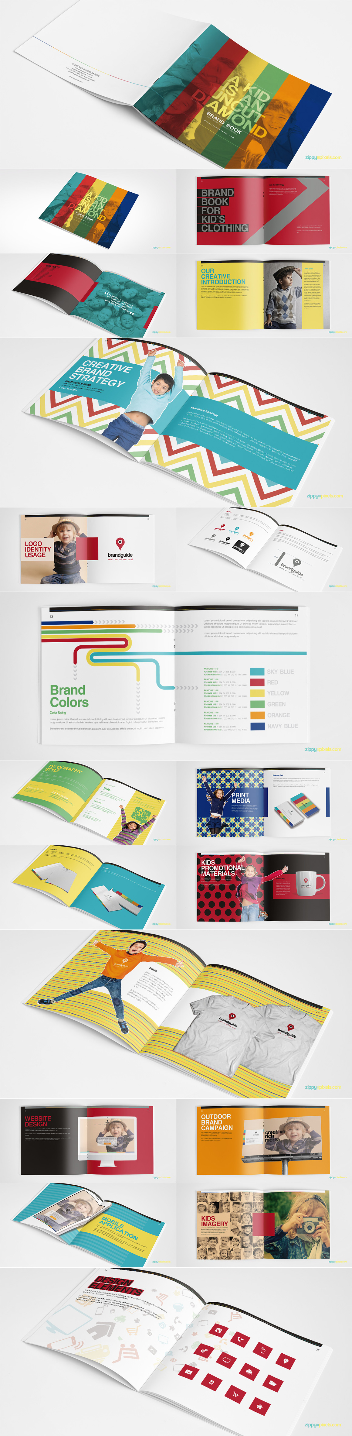 Style Guide & Brand Book Templates-strip12