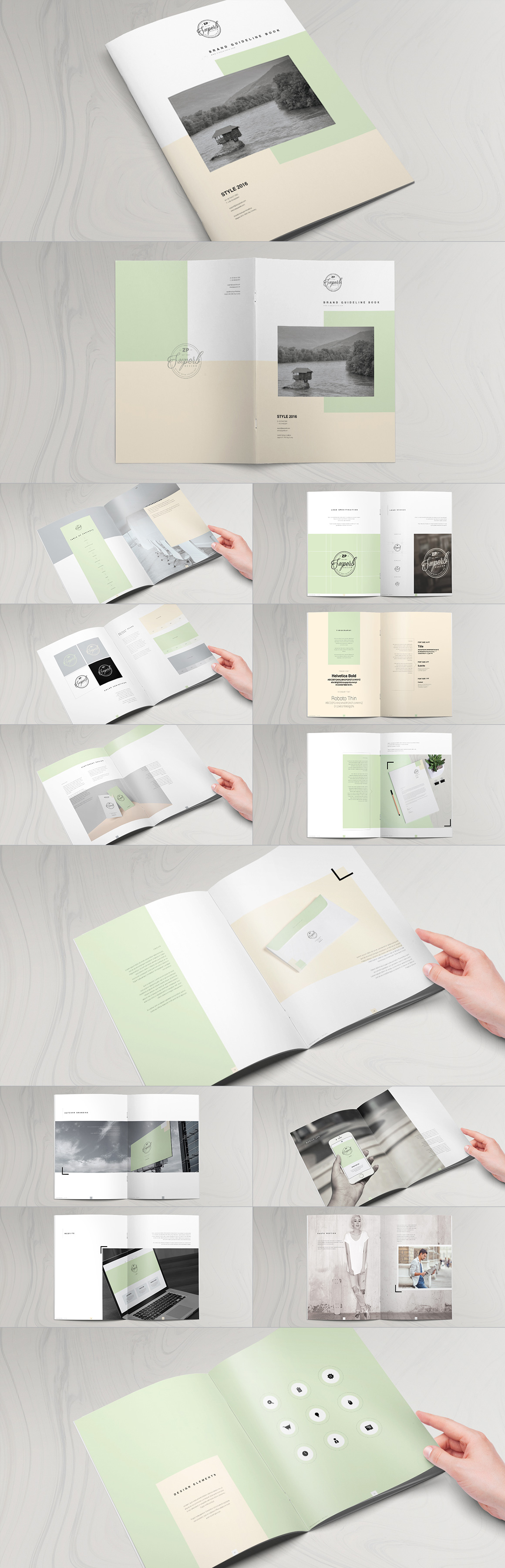 Style Guide & Brand Book Templates-strip14