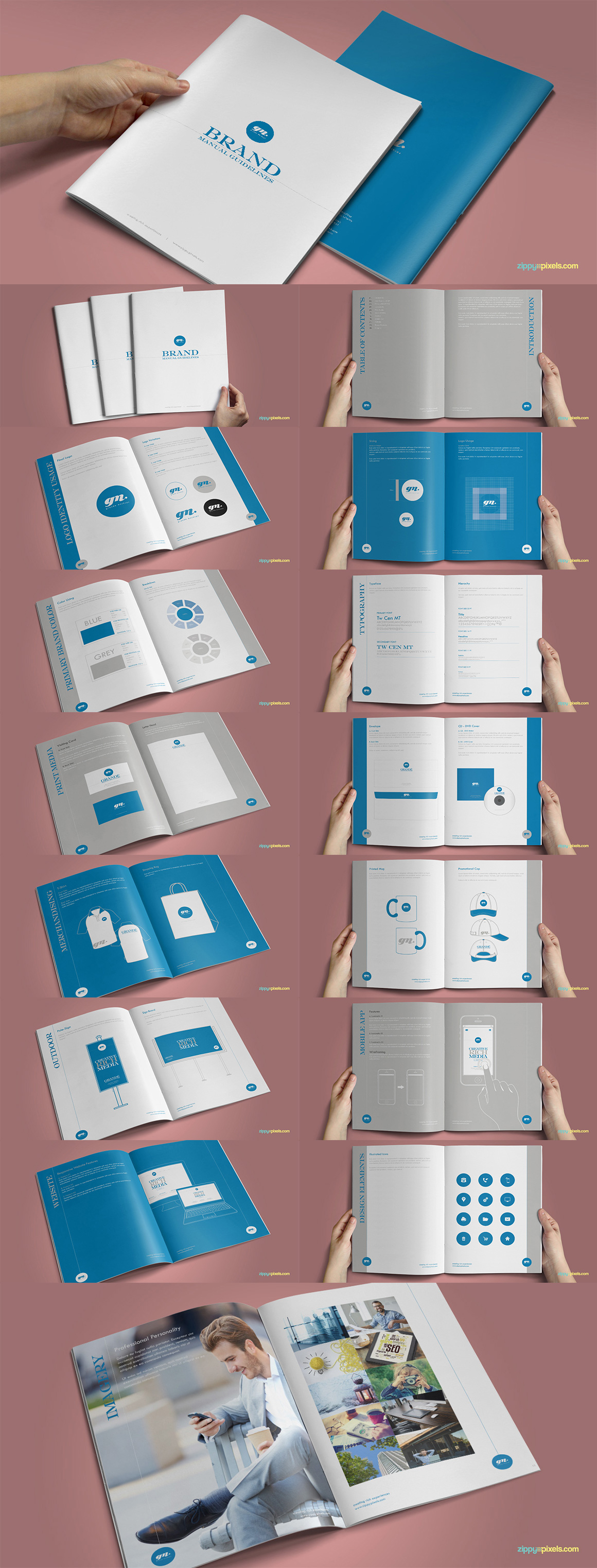 Style Guide & Brand Book Templates-strip3