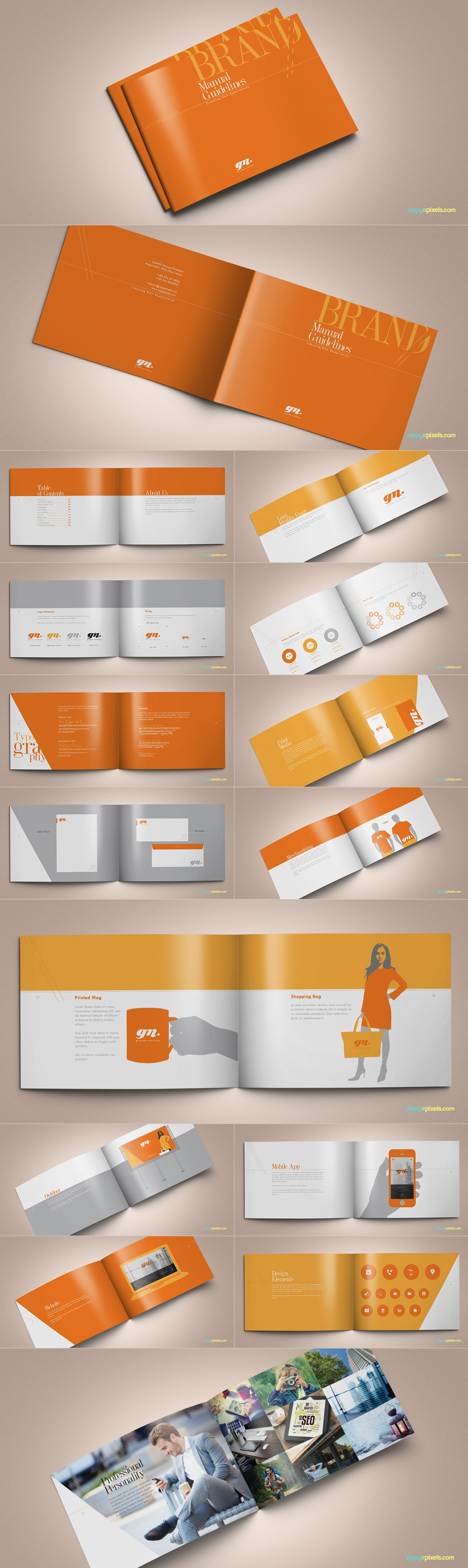 Style Guide & Brand Book Templates-strip4