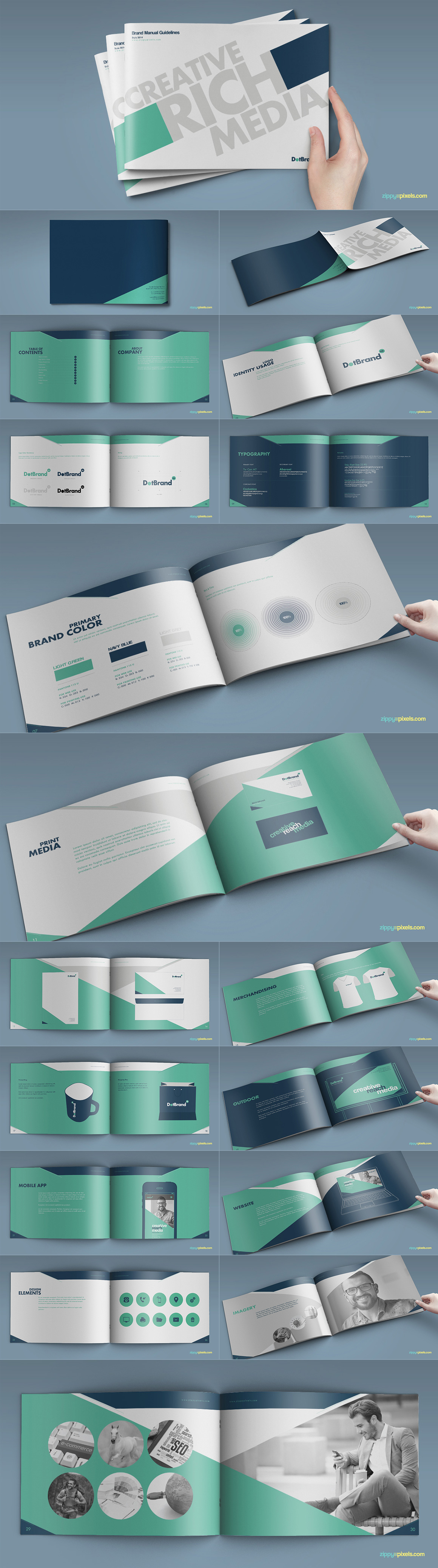 Style Guide & Brand Book Templates-strip5