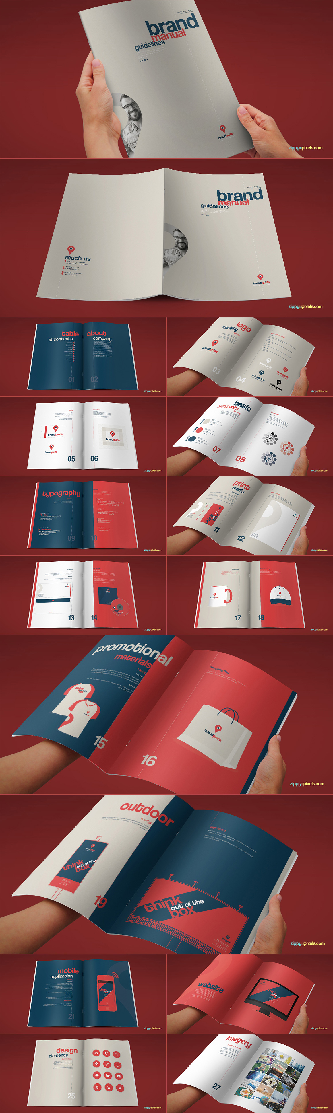 Style Guide & Brand Book Templates-strip6