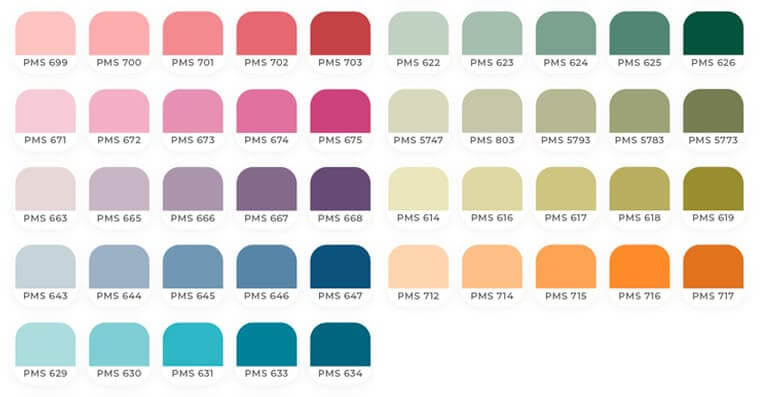 Muted Colours, Pastel color