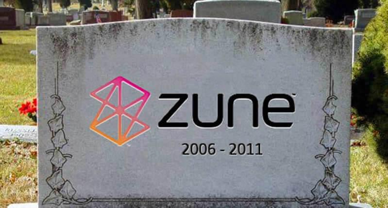 rip-zune - Microsoft's ill-fated Zune MP3 - Flat Design