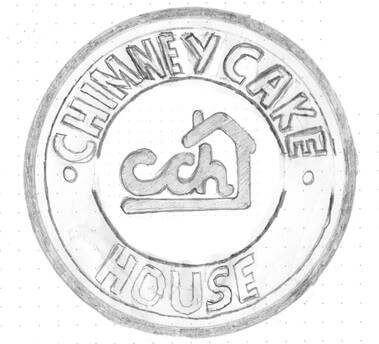 Chimney Cake House Logo Design sketch concepts